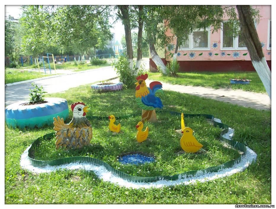 Территории детском саду своими руками